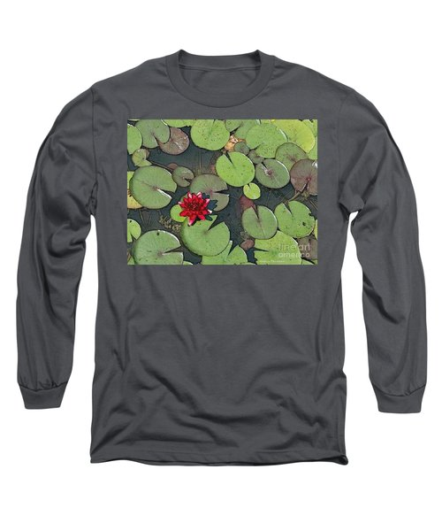 Scarlet Waterlily Long Sleeve T-Shirt