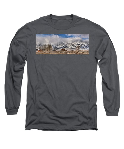 Long Sleeve T-Shirt featuring the photograph Scenic Mormon Homestead by Adam Jewell