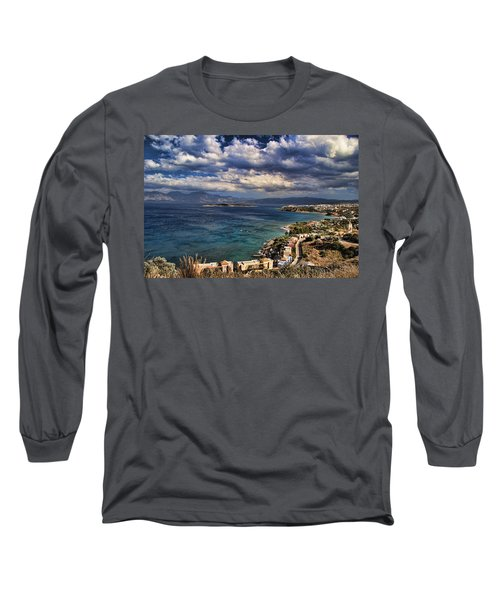 Scenic View Of Eastern Crete Long Sleeve T-Shirt