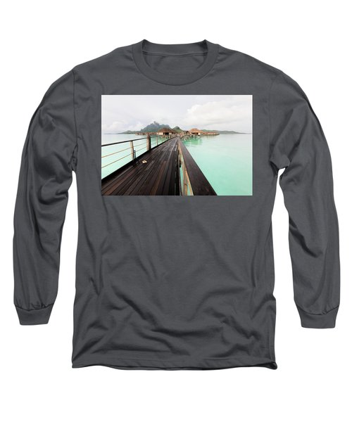 Scenic Walk To The Bungalow Long Sleeve T-Shirt