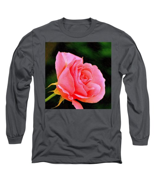 Scented Pink Rose Long Sleeve T-Shirt
