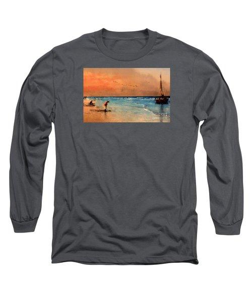 Scheveningen Long Sleeve T-Shirt by John  Kolenberg