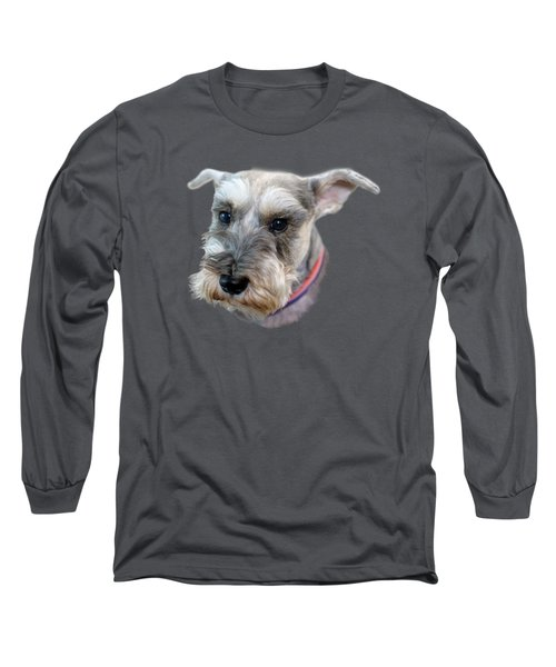 Long Sleeve T-Shirt featuring the photograph Schnauzer - Transparent by Nikolyn McDonald