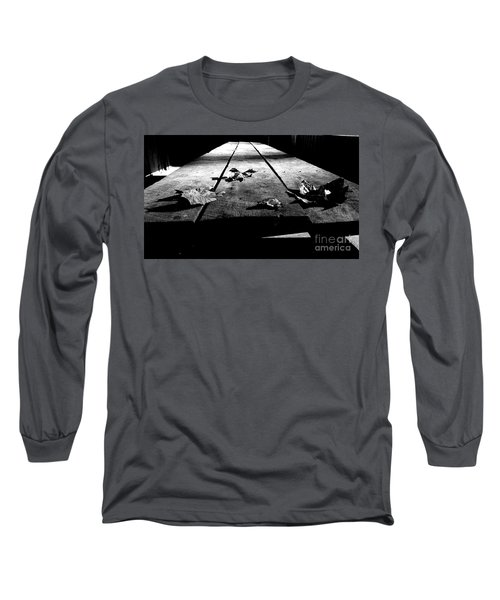 Schooled In Thought - Black And White Long Sleeve T-Shirt