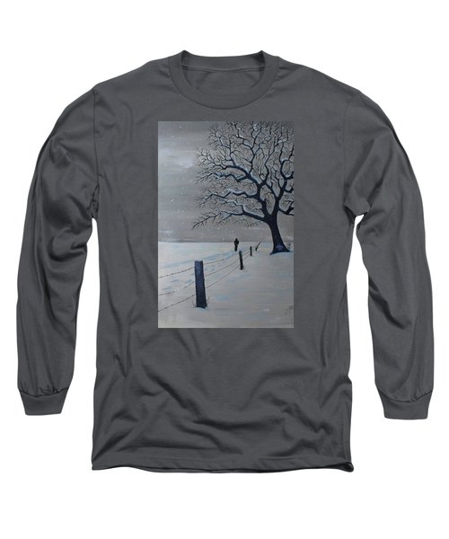 Long Sleeve T-Shirt featuring the painting Schools Out Early by Jack G Brauer