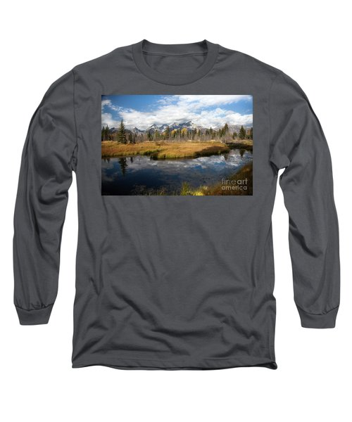 Schwabachers Landing, Grand Teton National Park Wyoming Long Sleeve T-Shirt