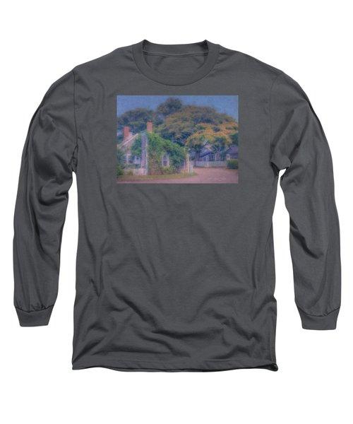 Sconset Cottages Nantucket Long Sleeve T-Shirt