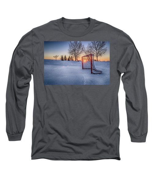 Long Sleeve T-Shirt featuring the photograph Scoring The Sunset 3 by Darcy Michaelchuk