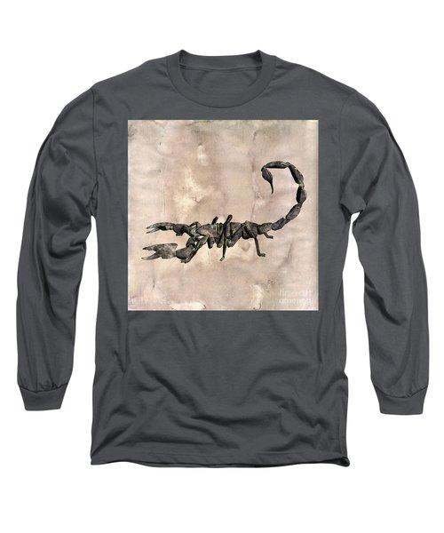 Scorpion Pop Art By Mary Bassett Long Sleeve T-Shirt