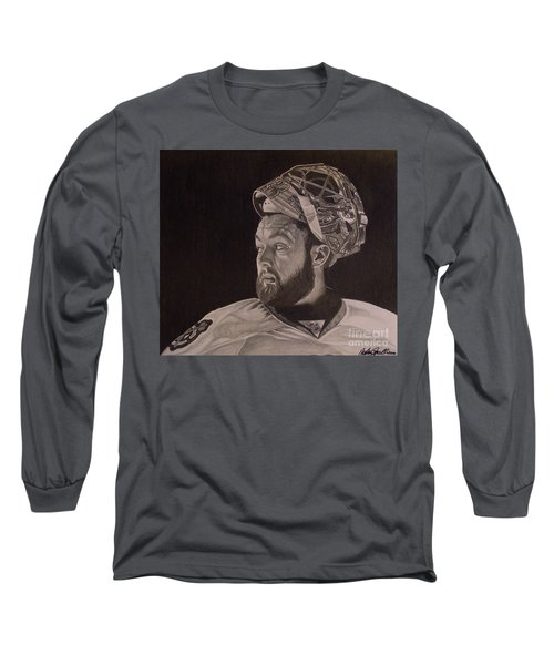 Scott Darling Portrait Long Sleeve T-Shirt by Melissa Goodrich