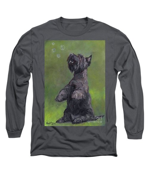Scottie Likes Bubbles Long Sleeve T-Shirt