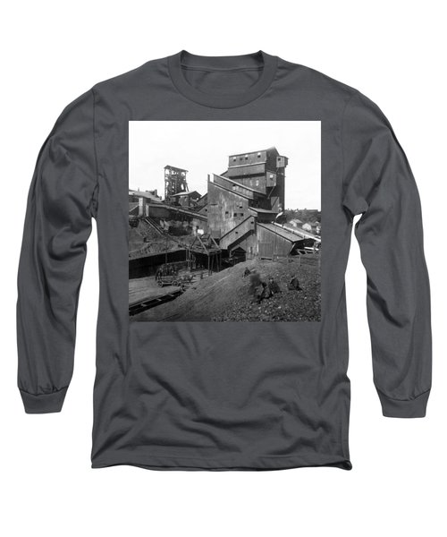 Scranton Pennsylvania Coal Mining - C 1905 Long Sleeve T-Shirt