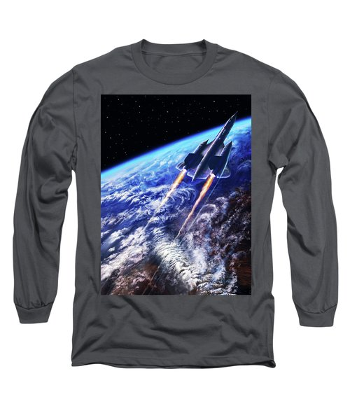 Scraping Outer Spheres Long Sleeve T-Shirt by Dave Luebbert