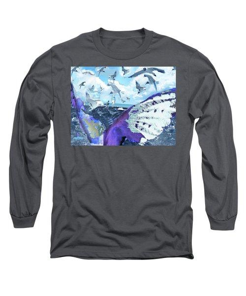 Scream Of The Gulls Long Sleeve T-Shirt by Seth Weaver