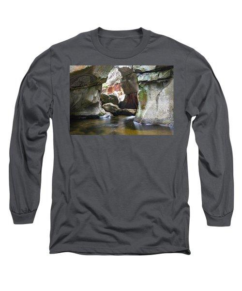 Screw Auger Falls Cavern Long Sleeve T-Shirt