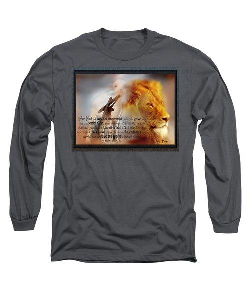 Scripture Art    Lamb Of God Long Sleeve T-Shirt