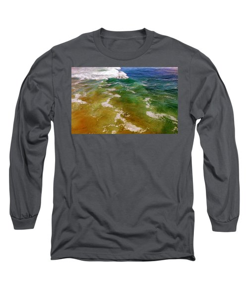 Colorful Ocean Photo Long Sleeve T-Shirt