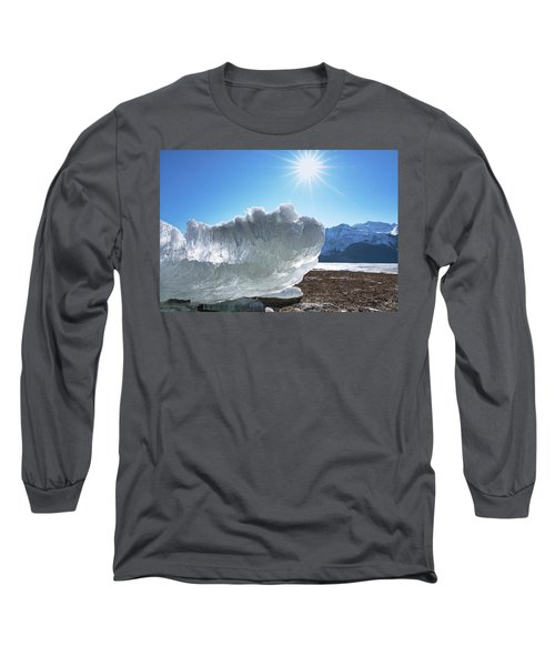 Sea Ice Glowing With The Sun Long Sleeve T-Shirt