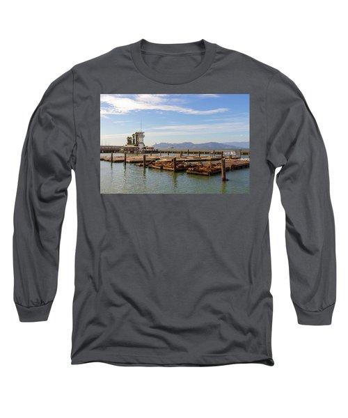 Sea Lions At Pier 39 In San Francisco Long Sleeve T-Shirt