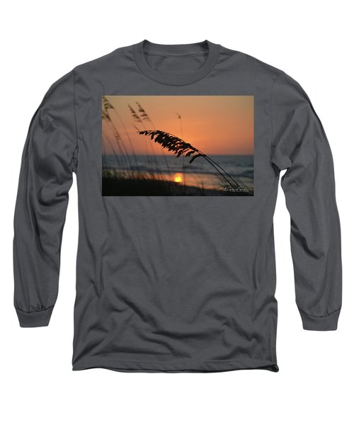 Sea Oats At Sunrise Long Sleeve T-Shirt by Gordon Mooneyhan