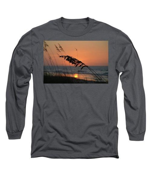 Sea Oats At Sunrise Long Sleeve T-Shirt