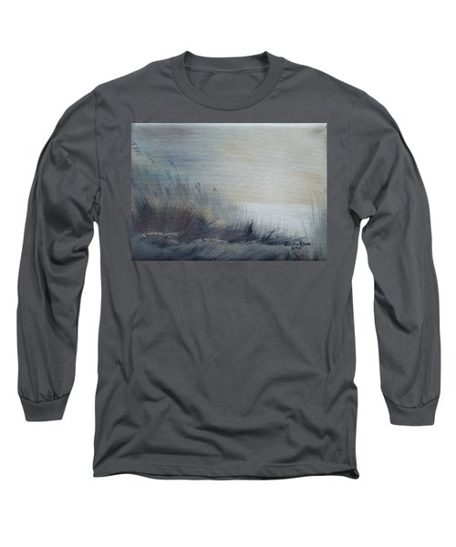 Long Sleeve T-Shirt featuring the painting Sea Oats by Judith Rhue