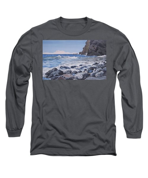 Sea Pounded Stones At Crackington Haven Long Sleeve T-Shirt