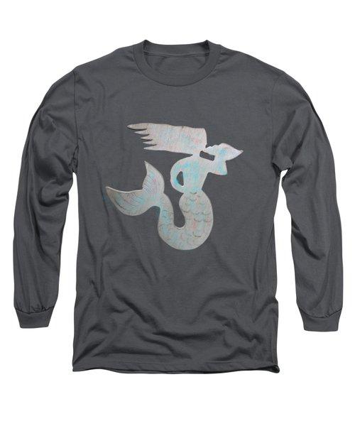 Sea Shell Mermaid Long Sleeve T-Shirt