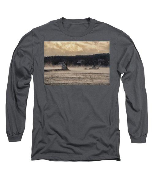 Sea Smoke At Rockland Breakwater Light Long Sleeve T-Shirt