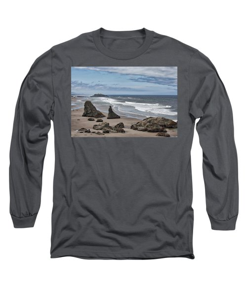 Sea Stacks And Surf Long Sleeve T-Shirt
