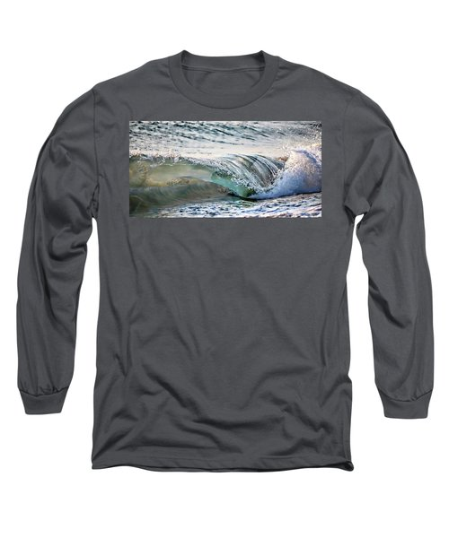 Sea Turtles In The Waves Long Sleeve T-Shirt by Barbara Chichester
