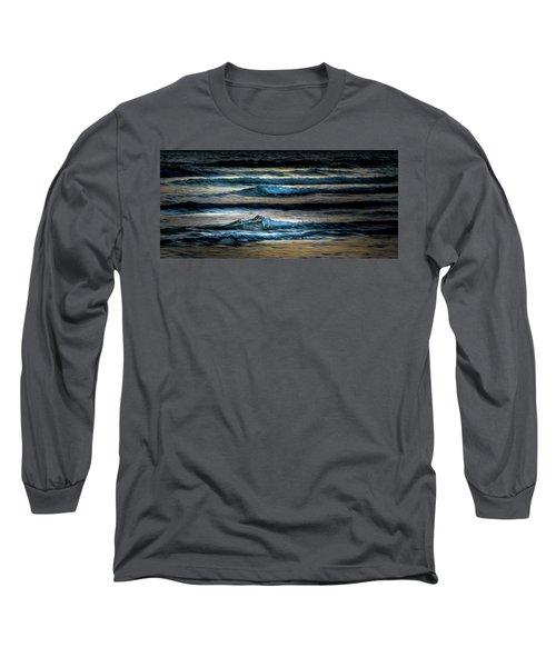Sea Waves After Sunset Long Sleeve T-Shirt