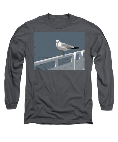 Seagull On The Rail Long Sleeve T-Shirt