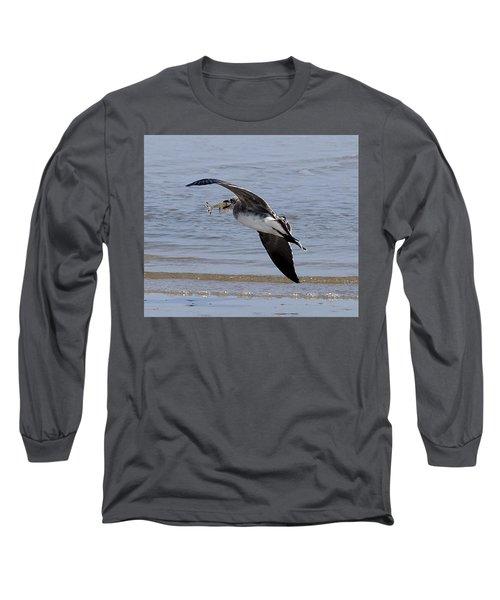 Seagull With Shrimp Long Sleeve T-Shirt
