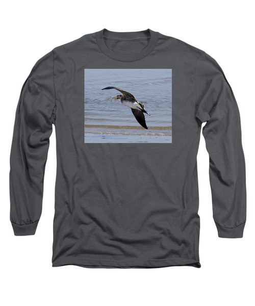 Seagull With Shrimp Long Sleeve T-Shirt