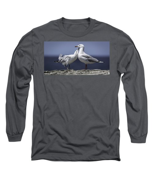 Long Sleeve T-Shirt featuring the photograph Seagulls by Chris Cousins