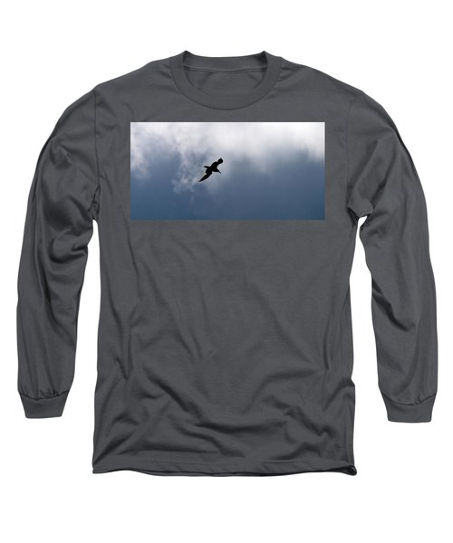 Long Sleeve T-Shirt featuring the photograph Seagull's Sky 1 by Jouko Lehto