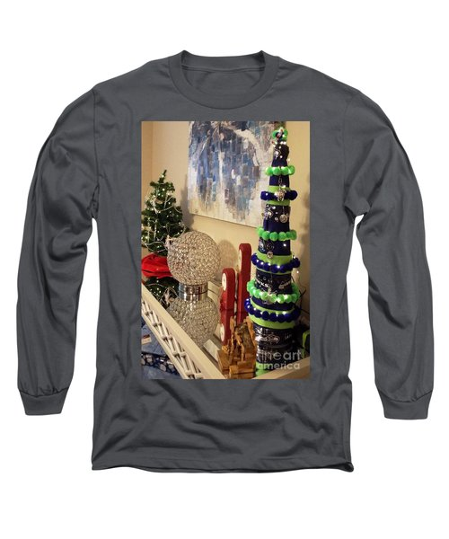 Seahawk Christmas Long Sleeve T-Shirt
