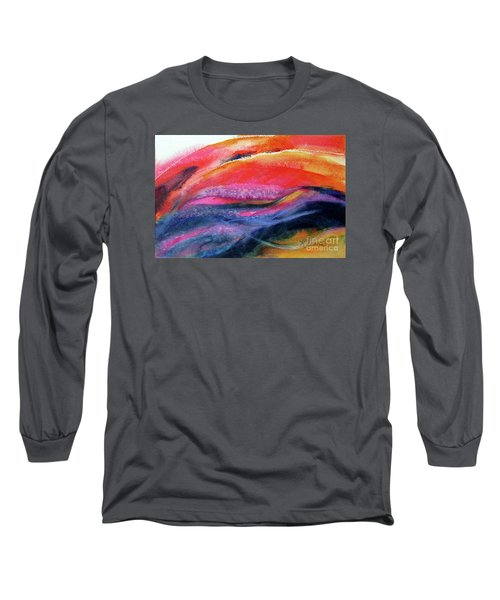Long Sleeve T-Shirt featuring the painting Seams Of Color by Kathy Braud