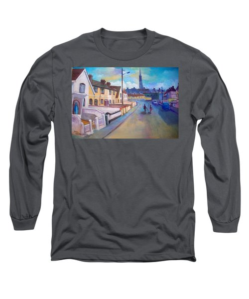 Long Sleeve T-Shirt featuring the painting Sean Hueston Place Limerick Ireland by Paul Weerasekera