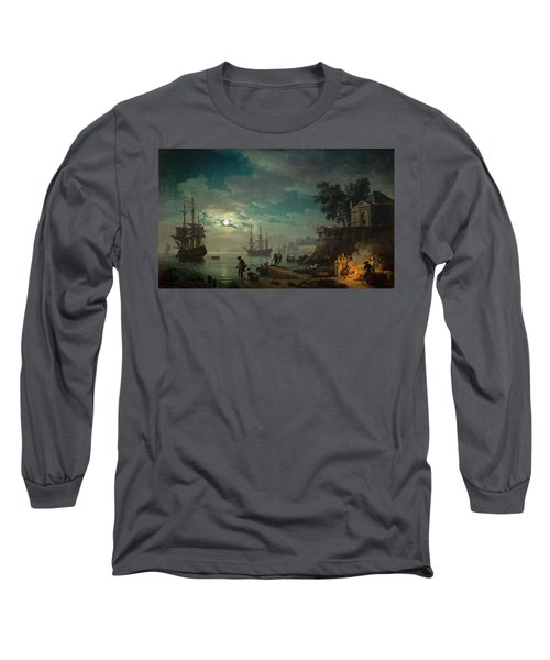 Seaport By Moonlight Long Sleeve T-Shirt