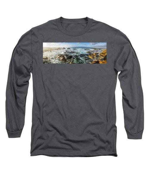 Seas Of The Wild West Coast Of Tasmania Long Sleeve T-Shirt