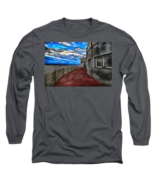 Seascape Atmosphere - Atmosfera Di Mare Dig Paint Version Long Sleeve T-Shirt