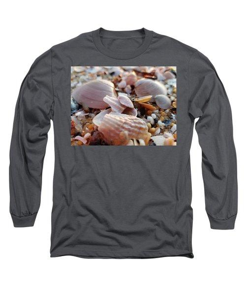 Seashells And Pebbles Long Sleeve T-Shirt