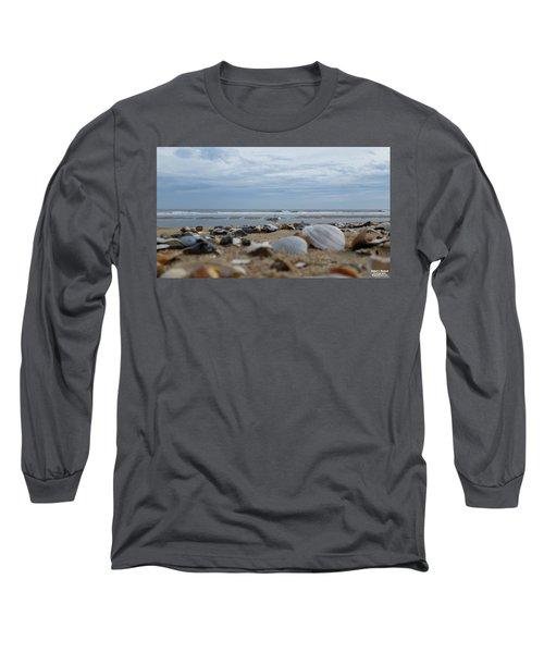 Seashells Seagull Seashore Long Sleeve T-Shirt