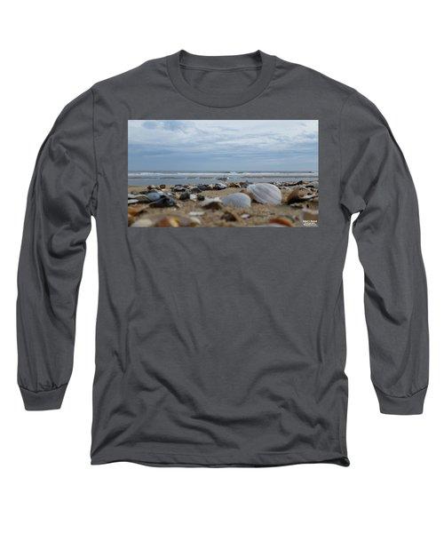 Seashells Seagull Seashore Long Sleeve T-Shirt