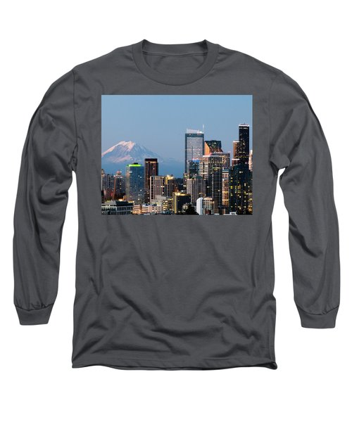Long Sleeve T-Shirt featuring the photograph Seattle At First Light II by E Faithe Lester