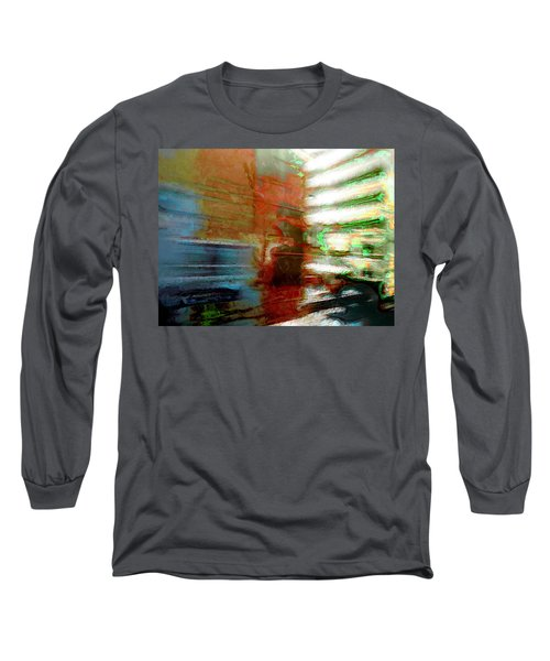 Long Sleeve T-Shirt featuring the photograph Seattle By Train by Lori Seaman