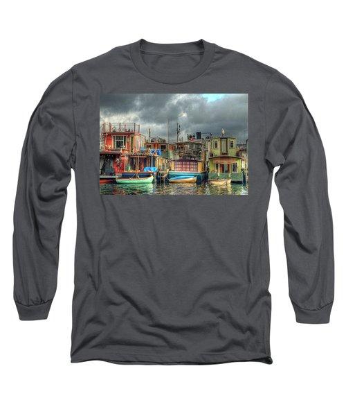 Seattle Houseboats Fine Art Photograph Long Sleeve T-Shirt