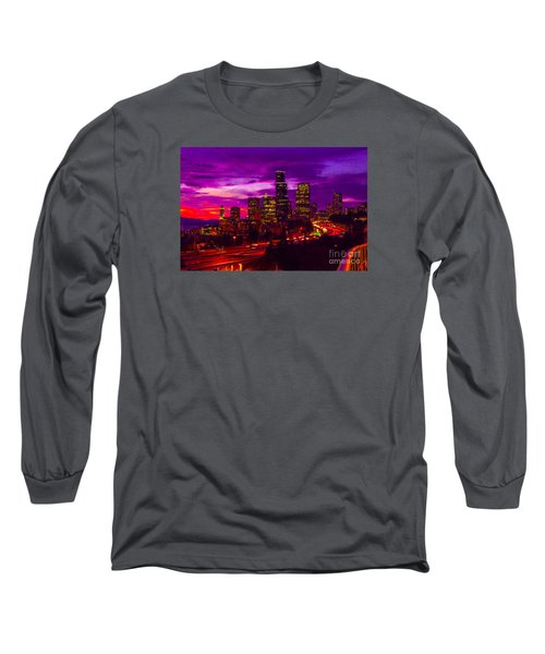 Seattle Shades Of Purple Long Sleeve T-Shirt